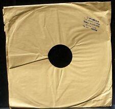 Pochette 78 trs / 78 RPM 30 cm tampon disquaire Barbotte Ste Cécile Troyes NM -