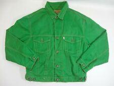 Vintage Diesel Men's Stars Series Green Denim Jacket Retro M Medium Bright Light