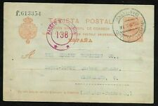 Spain Postal Card to USA, Censored by Examiner in US 1918