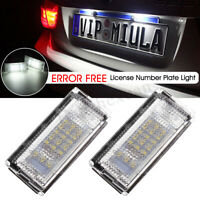2x Canbus Error Free License Number Plate Light LED Lamp For BMW E46