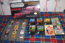 Nintendo NES Action Set Console System NTSC Complete in BOX CIB w 23 game Bundle