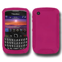 NEW AMZER HOT PINK SILICONE SKIN JELLY CASE FOR BLACKBERRY CURVE 3G 9300/8530