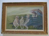 VINTAGE  IMPRESSIONISM EXPRESSIONISM PAINTING OIL SIGNED RUTH ROSSMAN NEW YORK