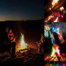 Mystical Fire Magic Tricks Bonfire Camp Fire Colored Flame Powder Games Toy Gift