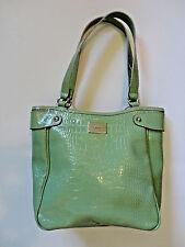 LIZ & CO. Light Green Reptile Print Medium Shoulder Handbag EXCELLENT!