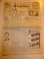 MELODY MAKER 1939 APRIL 15 JAZZ BBC HENRY HALL MAURICE WINNICK DUKE ELLINGTON