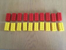 lego 3001 Red and yellow 4x2 bricks x 20 (10 off each)