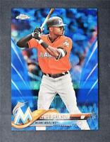 2018 Topps Chrome Blue Wave Refractor #124 Lewis Brinson /75