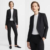 Theory Women's Sz 4 Lanai Sevona Open Cropped Blazer Stretch Wool Blend NWOT