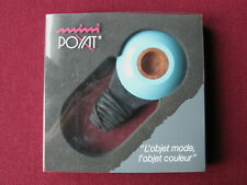 Unsmoked blue Mini Poyat pipe designed by Jean-Pierre Vitrac new NOS tie-vintage
