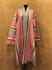 Vintage uzbek silk multi color chapan clothes, interiors bohemian jacket robe