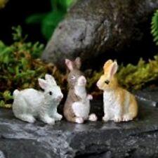 Miniature Bunnies  S/3 Asst for Fairy Garden /Dollhouse Bunny Rabbit 16861