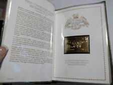 Aviation Stamps Great Firsts in Aviation 23kt Gold Stamp Collection Album