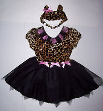 CHILDREN'S PLACE LEOPARD KITTY PRINCESS COSTUME 5-6 TCP CAT HALLOWEEN DRESS EARS