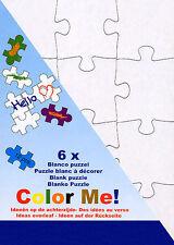 Blanko-Puzzle DIN A5, 21 x 14,8 cm, 12 Teile, 2er Set