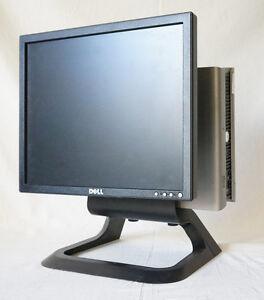"""DELL 17"""" LCD MONITOR P/N E177FPT W/ OPTIPLEX 755 WIN 7 E2160 1.80GHZ 2GB RAM Q35"""