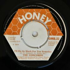 "THE CONCORDS - I""LL DO AS MUCH FOR YOU - Rare Irish Showband 7"" 45rpm 1970 - VG"