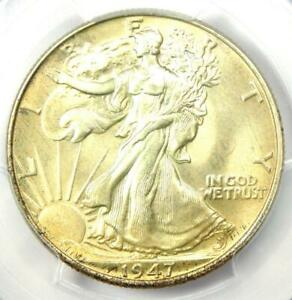 1947 Walking Liberty Half Dollar 50C Coin - Certified PCGS MS67 - $4,500 Value!