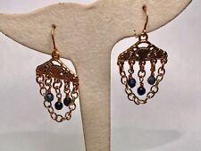 Barse Jewelry Dumortierite and Bronze Chandelier Earrings