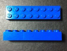 LEGO 3007 Bleu lot de 2 Brique Poutre 2x8 Brick Blue
