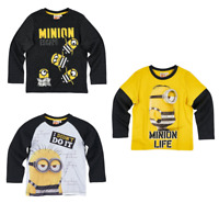 Boys Kids Official Licensed Minions Despicable Me Long Sleeve T Tee Shirt Top