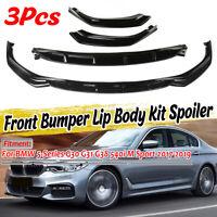 For BMW 5 Series G30 G31 M Sport 17-19 Front Diffuser Splitter Lip Spoiler Gloss
