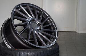 18 Zoll Keskin KT17 Alu Felgen 8x18 et45 5x112 grau für Audi VW Seat Skoda