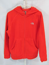 The North Face Boys Jacket XL 18 20 Boys Orange Fleece Hooded Polartec Classic