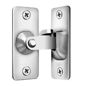 90 Degree Stainless Steel Latch Safety Right Angle Sliding Door Lock (S)