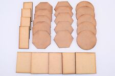 2mm MDF Wargaming Base Bases Round Square Rectangular Hexagonal Octagonal