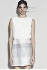 CAMILLA AND MARC HUMMINGBIRD SILVER WHITE MINI DRESS SIZE 8 RRP $730