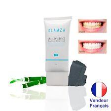 Glamza Dentifrice blancheur À la Poudre de Charbon actif Blanchissante des dents