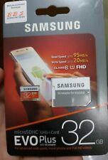 Samsung microSDHC 32GB class 10 FHD evo plus read speed 95MB/s