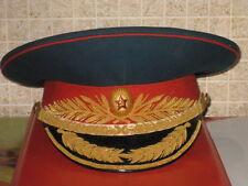 Original SOVIET RUSSIAN GENERAL PARADE MILITARY Army Visor Hat UNIFORM Size 56