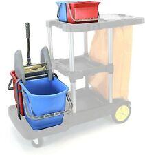 Mop Buckets Set For Janitorial Cart 4 Buckets Side Press Wringer