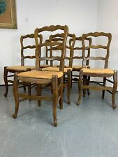 Rush Seat Dining Chairs In 20th Century Antique For