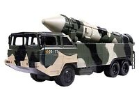 Military Missile Transport Army Truck Long Range Missile Toy Kids Combat Tank