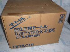 New Hitachi 0.75kW VTFO-K 4P 3ph induction motor 0.75kWVTFO-K 4P