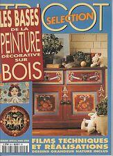 Les bases de la peinture décorative sur bois Tricot Sélection 1997 N°96H