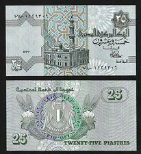 EGYPT 25 PIASTRES P 35b SIGN 12 AU-UNC