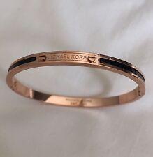 Michael Kors Bracelet Rose Gold Black Bangle