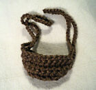 New Hand Crocheted Med. Brown Acrylic NOSE WARMER Winter Sports Clothing Unisex