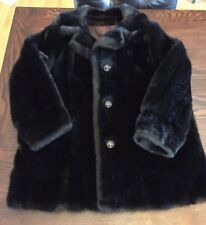 Aleutian Styled by Dubrowsky and Joseph Women's Vintage Faux Fur Coat Size 10