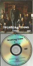 COUNTING CROWS 6TRX Jones ROUND Angels DAYLIGHT Hangin PROMO VIDEO DVD 2008 USA