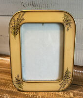 """Vintage The Bucklers Inc. Floral Metal Picture Frame 8.25"""" Tall x 6.5"""" Wide"""