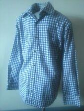 TCM Hemd blau weiß kariert langarm Gr. 41 - 42 ideal für Oktoberfest