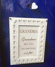Grandma Gift Wall Plaque with sentiments and heart and Lace Design F1508D-GD