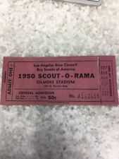 Vintage Boy Scout 1950 Scout-o-rama Ticket Book Gilmore Stadium Los Angeles