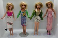 Lot of 4 Mary-Kate and Ashley Olsen Dolls  1987 Used Olson Twins ••FREE SHIP••