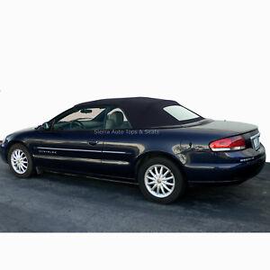 Fits: 2001-2006 Chrysler Sebring, Convertible Top w/Window, Black Sailcloth